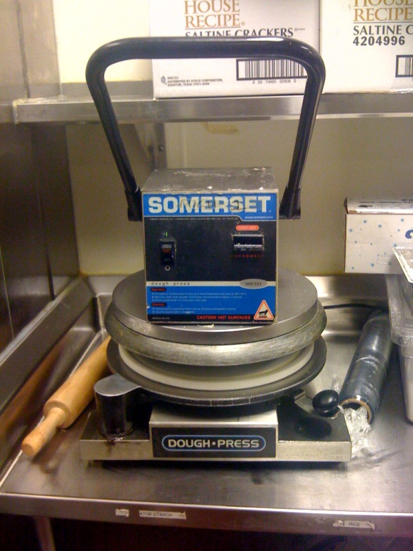 somerset sdp747 pizzabread dough press preowned manual